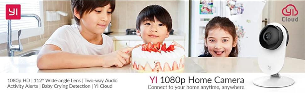 YI 1080p Home Camera Wireless IP Security Surveillance System (US Edition) White .99 (was 9.99)
