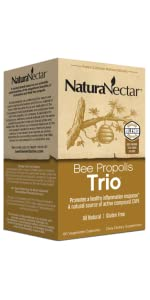 NaturaNectar Bee Propolis Trio,Red Green Brown Propolis,Brazilian Bee Propolis,Trio Propolis