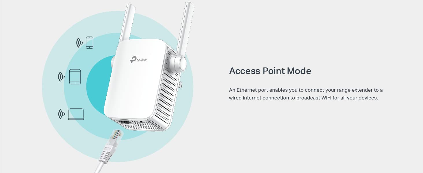TP-Link   AC1200 WiFi Range Extender   Up to 1200Mbps   Dual Band WiFi  Extender, Repeater, Wifi Signal Booster, Access Point  Easy Set-Up    Extends