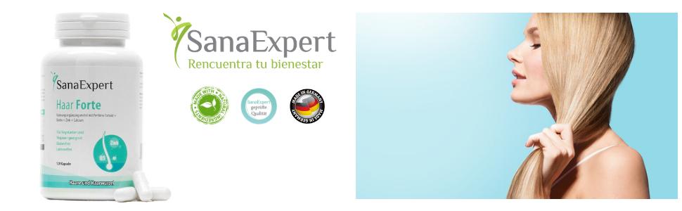 SanaExpert Haar Forte, Suplemento Capilar para el Crecimiento y Fortalecimiento 1