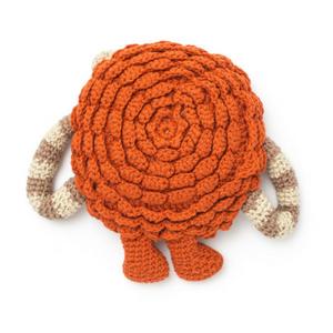 lion pillow knit with bernat softee chunky