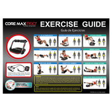 core max pro, exercise chart, core workout