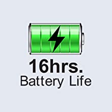 Long battery life-16 hours