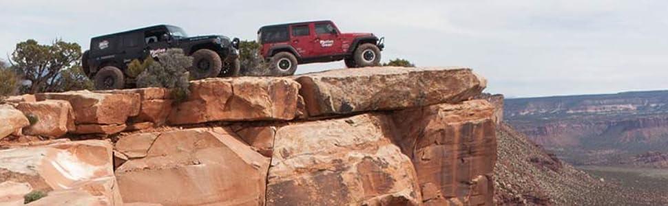 Jeeps on a cliff motive gear
