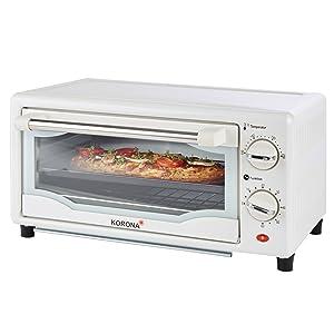 Korona Four à pizza, four à toasts, four à griller, mini single blanc, pizza, gratin, grille, baguette, cuisine.