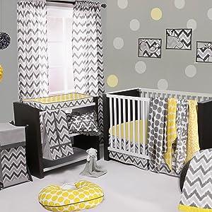 Bacati Ikat Yellow/Grey Collection