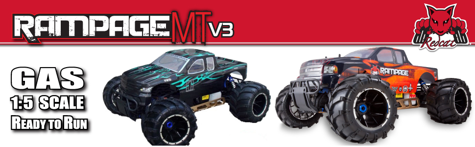 Rampage MT 1/5 Scale Gas Powered RC Monster Truck Fast Ready to Run Hobby Grade