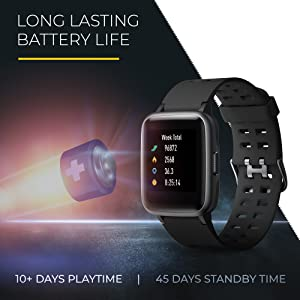 Long lasting Battery Life: 10-15 working days and upto 45 days of standby time