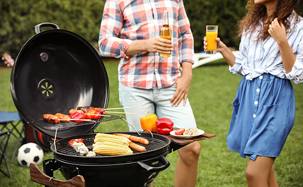 charcoal grill portable grill thats great for outdoor grilling compact black outdoor grills