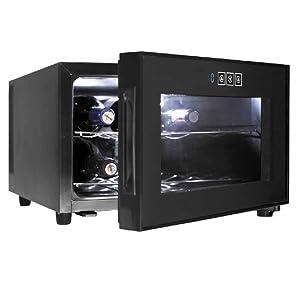 Lacor - 69187 - Armario refrigerador 8 Botellas Black Line 50w ...
