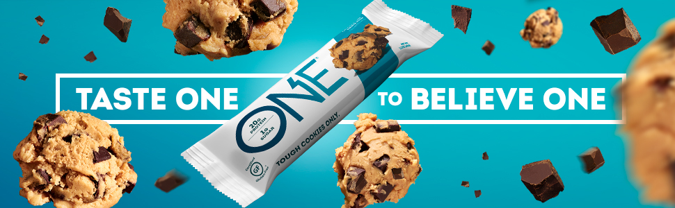 One Bar, One Brands, One Protein Bar, Protein Bar, Chocolate Chip Cookie Dough Protein Bar, One