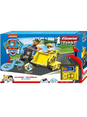 Carrera First Paw Patrol Toy Race Track Playset Chase Rubble slot car sets 20063034