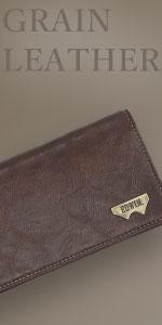 グレイン合皮 Wメタル 長財布
