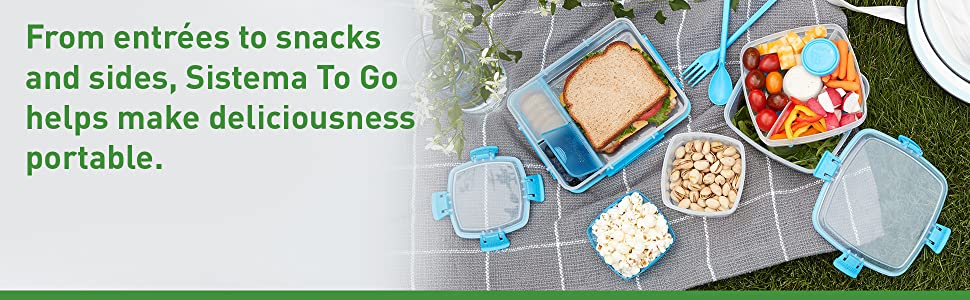 From entrees to snacks and sides, Sistema To Go helps make delicious portable.