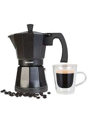 Wecook Cafetera Aluminio Luccia Apta inducción, 12 Tazas, Acero Inoxidable, Negro: Amazon.es: Hogar