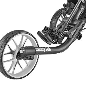 EVA maintenance-free wheels with ball bearings provide perfect traction on all types of terrain
