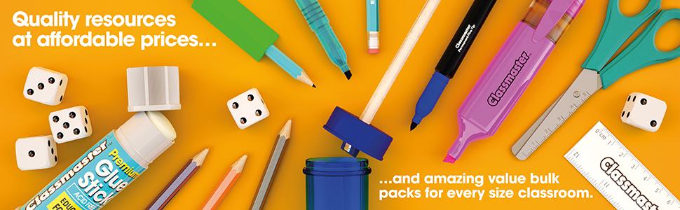 Whitecroft Essentials-Temperamatite in plastica confezione da 30 colori assortiti