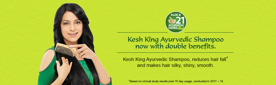 Kesh King Ayurvedic shampoo, reduces hairfall and makes hair silky,shiny,smooth
