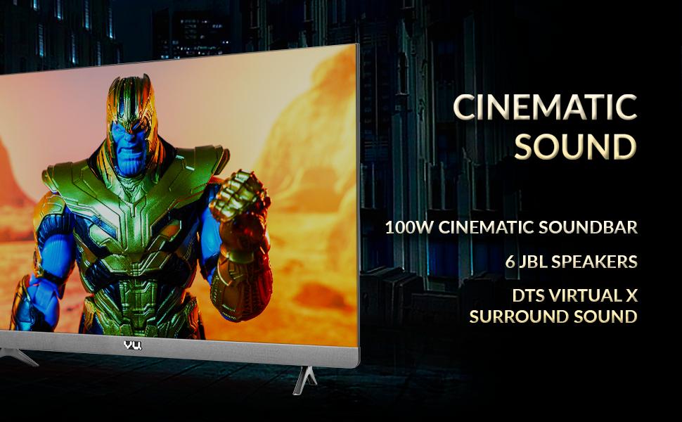 Cinematic Sound, JBL Speaker, DTS Virtual X, Theater Sound