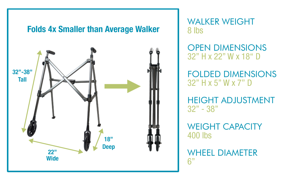 Amazon.com: Able Life Space Saver Walker, Lightweight