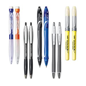 BIC Gel Ink Gel Pen for Office and School work with assorted colours and no smudge