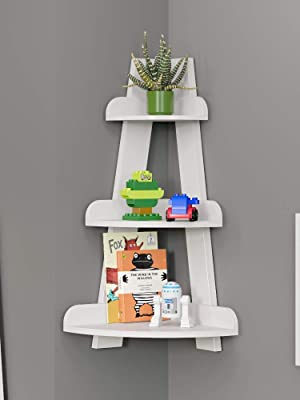 small ladder corner wall shelf