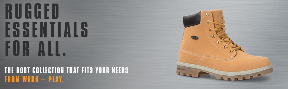 Lugz Men's Empire Hi Slip Resistant, Water Resistant 6 inch work boot