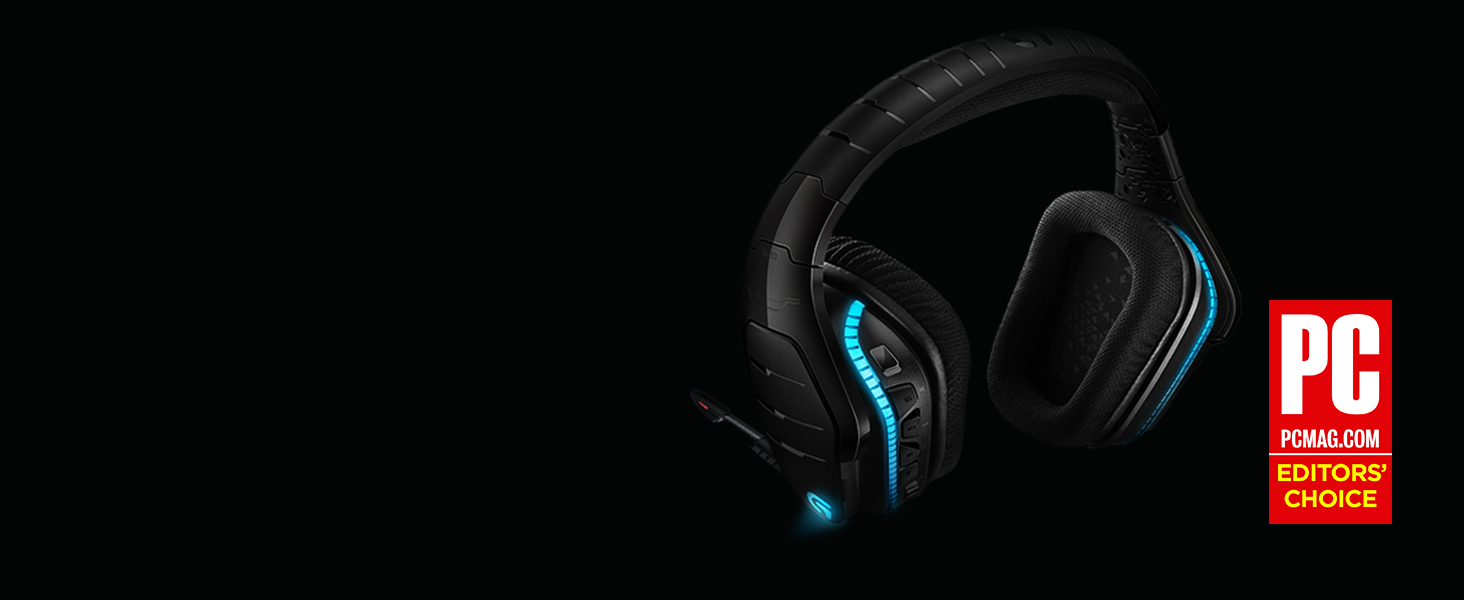 Logitech G933 Gaming Headset Artemis Spectrum 2 4 GHz Wireless 7 1 Surround  Sound Pro For PC, Xbox One and PS4 - Black