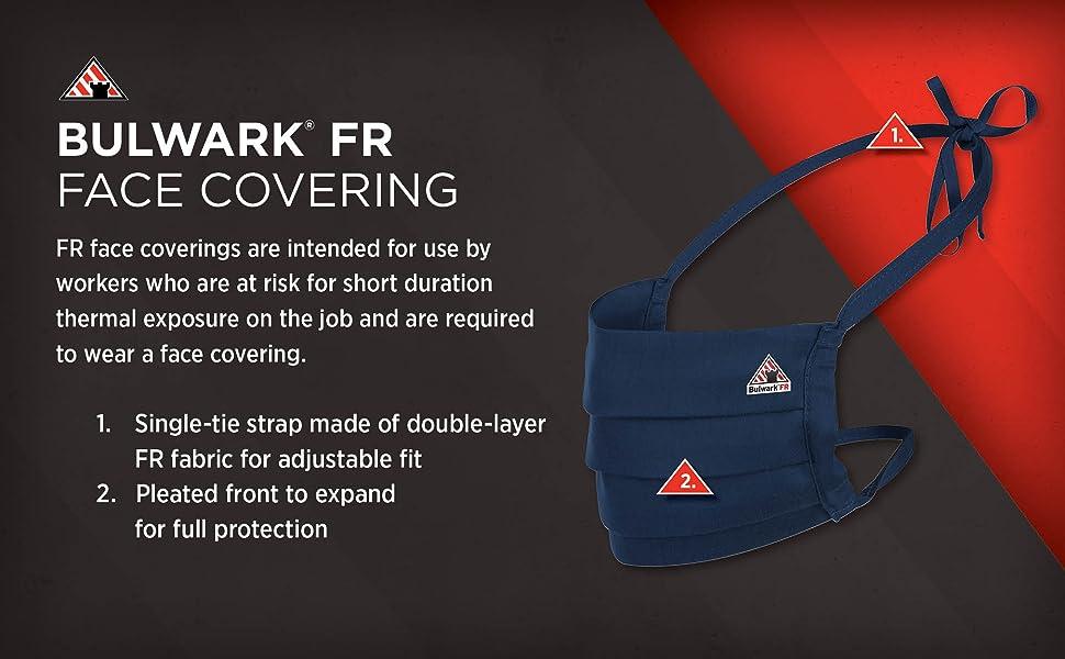 BUlwark FR flame resistant mens face mask face covering protective garment