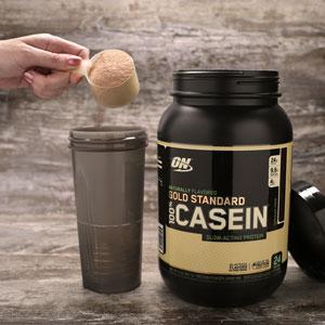 optimum nutrition natural casein scoop
