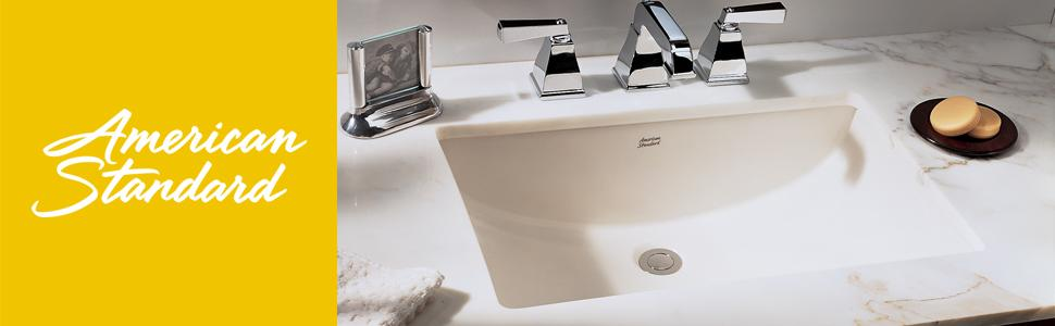 American Standard 0614 000 020 Studio Undercounter Bathroom Sink White Undercounter Bath