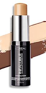 loreal makeup, foundation stick, shaping stick, contouring, loreal infallible