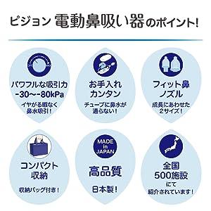 電動鼻吸い器のポイント
