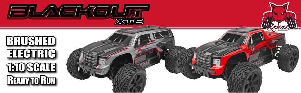 Redcat Blackout XTE 1/10 Scale Brushed Monster Truck Ready to Run Fast Hobby Grade