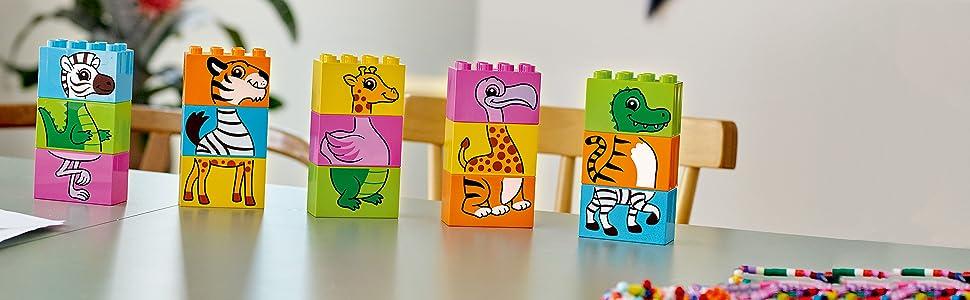 Incluye 5 puzles de animales