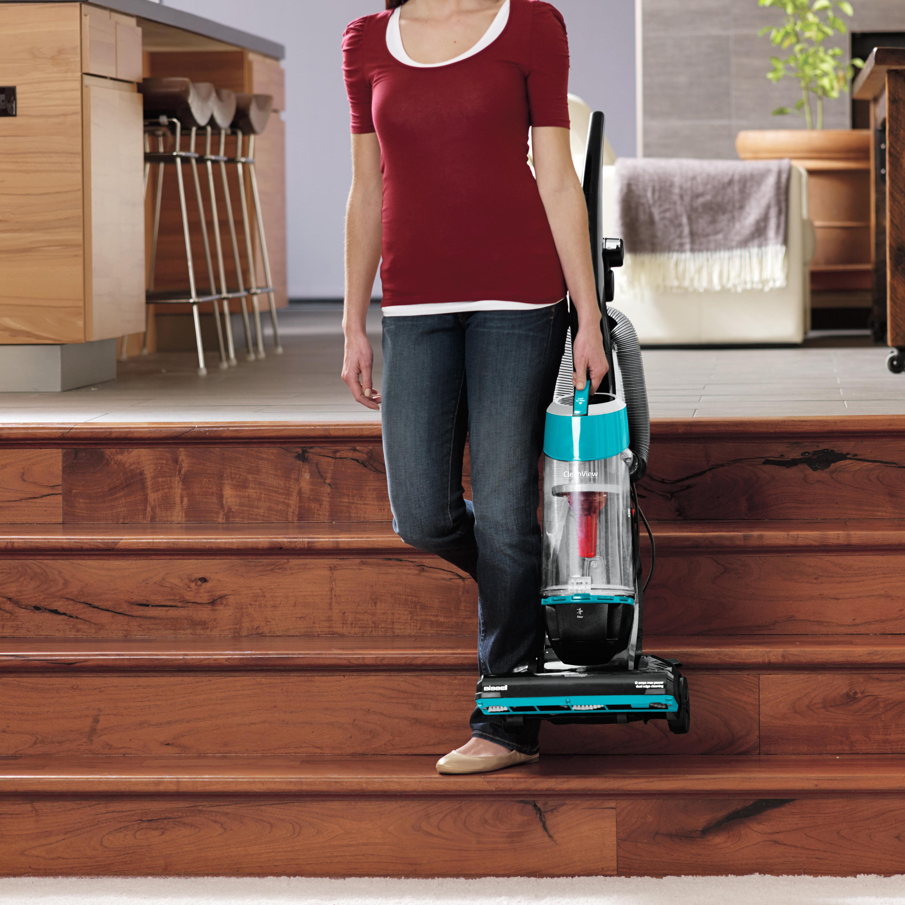 Amazon Com Bissell Cleanview Bagless Upright Vacuum Teal
