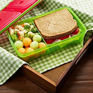 Amazon Com Fit Amp Fresh Kids Reusable Divided Meal