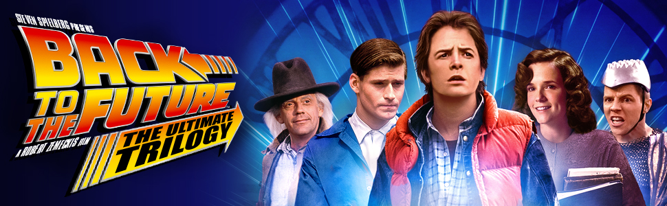 back to the future 35th anniversary ultimate trilogy marty mcfly doc emmett brown