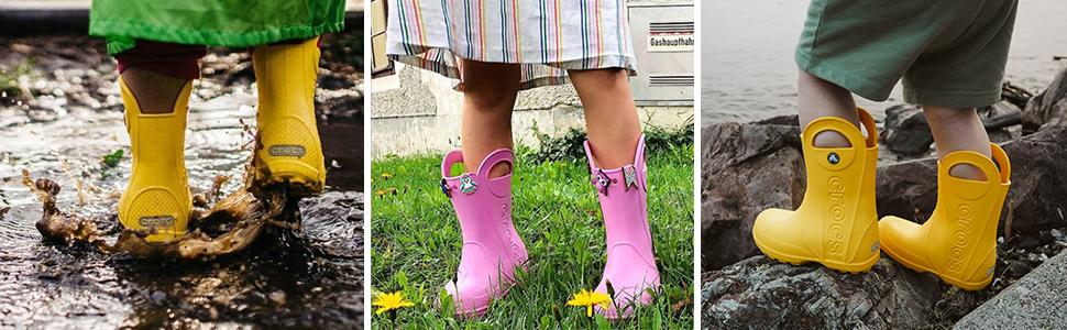 Kids Crocs Rain Boots