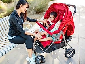 double stroller for multiples