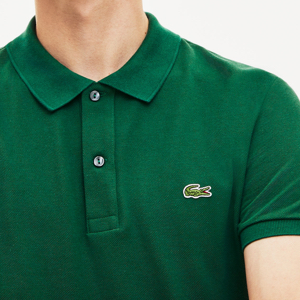Lacoste slim fit polo shirt in Petit Piqué cotton