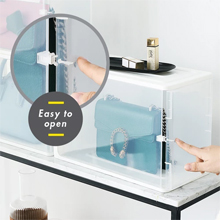 HOUZE - Stackable Luxury Bag See Thru Storage : Easy to Open