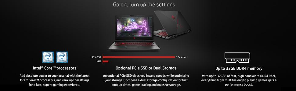 Image result for HP OMEN LAPTOP go on turn up the settings