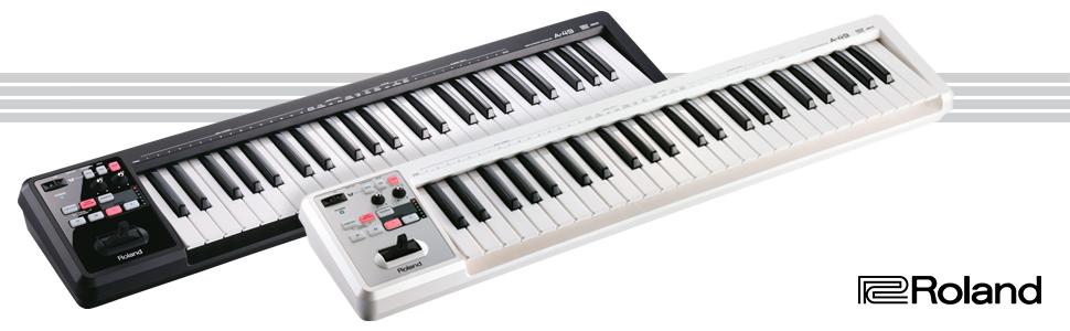 Roland A-49 Teclado controlador MIDI - Blanco: Amazon.es ...