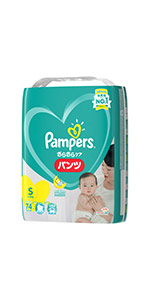 【パンツ Sサイズ】パンパース オムツ さらさらケア (4~8kg) 74枚