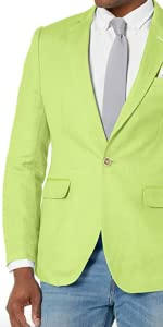 bright linen blazer