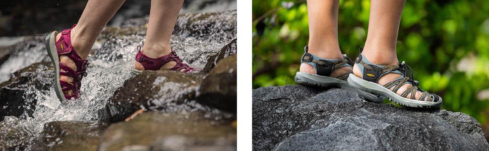keen women sandals, keen whisper sandals, waterproof sandals women, women sandals toe protection