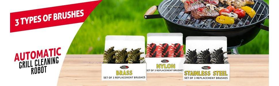 Amazon.com: Grillbot - Cepillos de repuesto para barbacoa ...