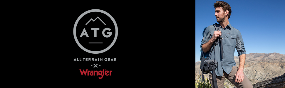 ATG x Wrangler Mix Material Long Sleeve Shirt