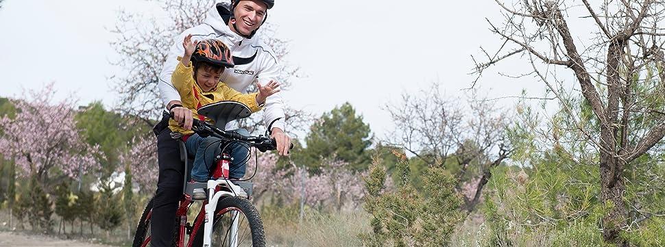Weeride 98072E Silla Portabebé para Bicicleta, Unisex bebé, Gris ...